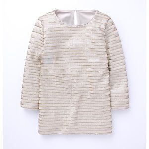 Boden gold sequin 3/4 sleeve top